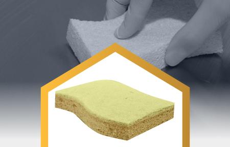 Estructura para limpieza de superficies delicadas