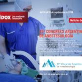 Adox en el Congreso Argentino de Anestesiología